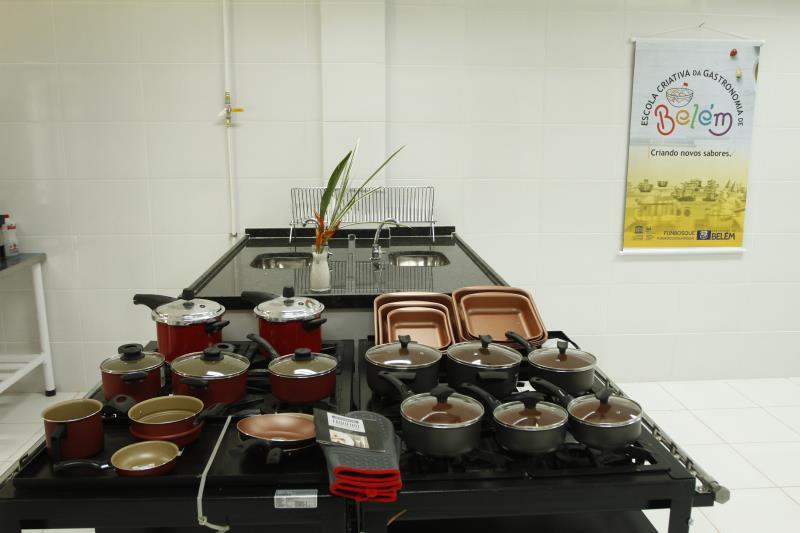 Os alunos da Escola de Gastronomia terão acesso a equipamentos modernos e bastante funcionais