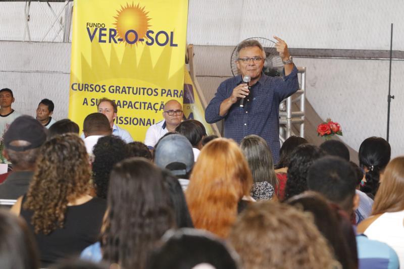 Em seu pronunciamento, o prefeito Zenaldo Coutinho lembrou a capacitação que será oferecida pela Escola Criativa de Gastronomia de Belém, inaugurada na semana passada em Outeiro, distrito de Belém
