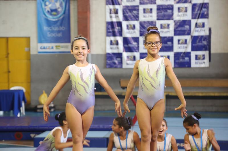 Crianças da ginástica olímpica contam com incentivo da Sejel