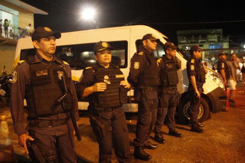 A Guarda Municipal de Belém (GMB) contou um contingente de 15 agentes e com três viaturas durante a festa de réveillon em Outeiro