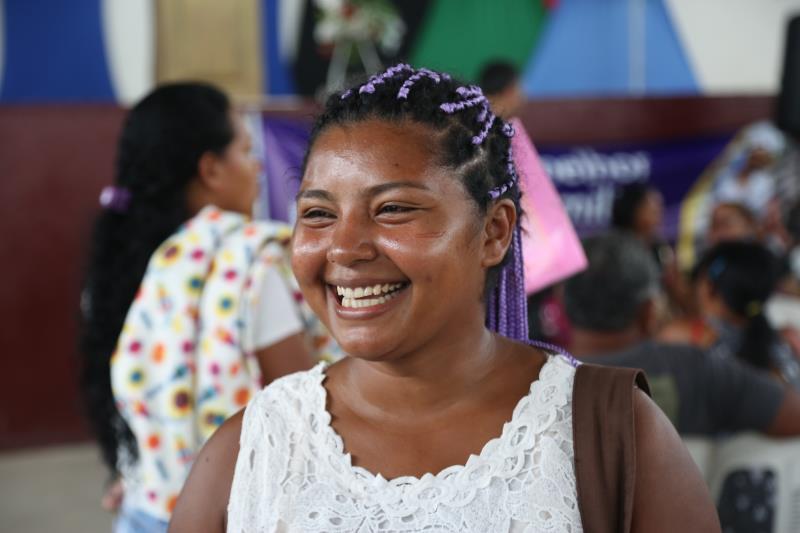 Danielle Oliveira, de 27 anos, aproveitou a ação para fazer seu cadastro no Número de Identificação Social (NIS)