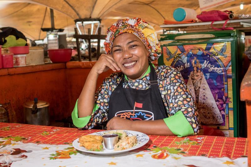 A boieira Roseane Gomes preparou uma prato muito especial para ser servido no Ver-o-Peso