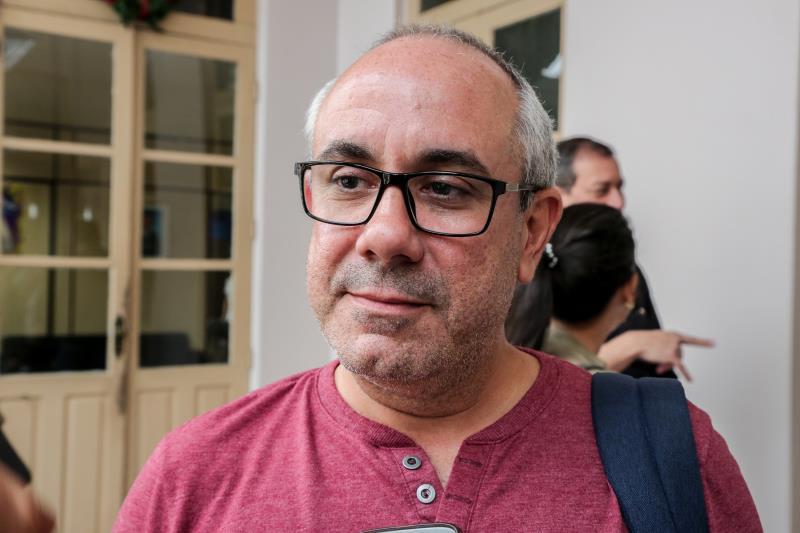 """Flávio Carvalho, técnico da Segep, acredita na interligação da cidade como """"tecidos"""" urbanos. """"Temos que entender a cidade como um conjunto de 'tecidos' urbanos, que precisam ser interligados"""", disse"""