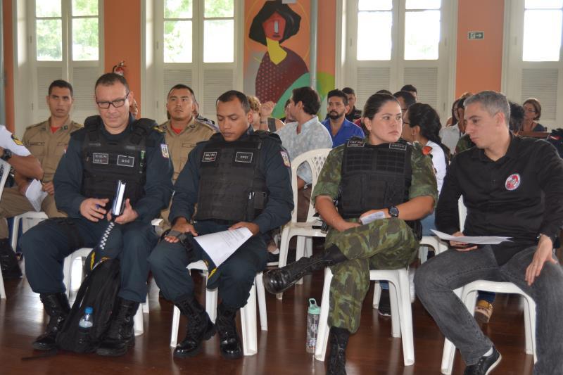 Órgãos de segurança pública municipal e estadual se reuniram para traçar metas e garantir a segurança dos turistas e moradores de Icoaraci
