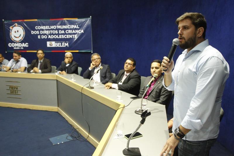 Vereadores da Câmara Municipal de Belém também participaram da cerimônia de posse dos novos conselheiros tutelares