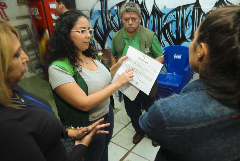 A Divisão de Fiscalização da Semma também foi destaque no carnaval 2019 na Aldeia Amazônica, quando foram fiscalizados sons automotivos em estabelecimentos comerciais
