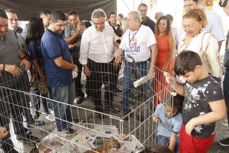 Cerca de 35 animais foram disponibilizados pela Prefeitura de Belém na ação montada na praça Frei Caetano Brandão, na Cidade Velha