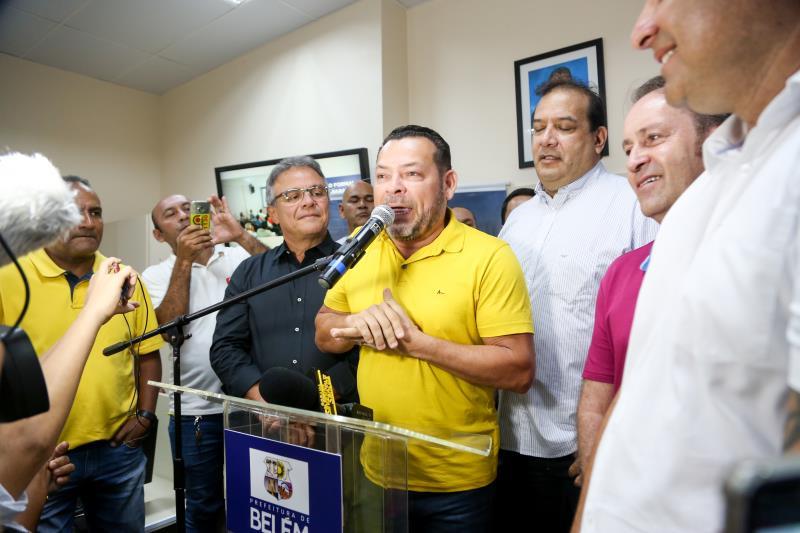 O vereador e presidente da Câmara Municipal de Belém, Mauro Freitas (PSDC), participou da inauguração
