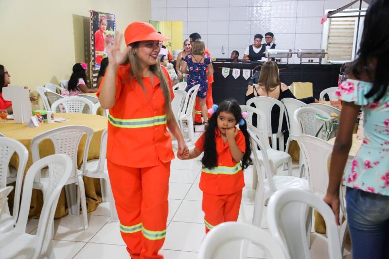 Festinha da Beatriz lembrou da importância da consciência ambiental