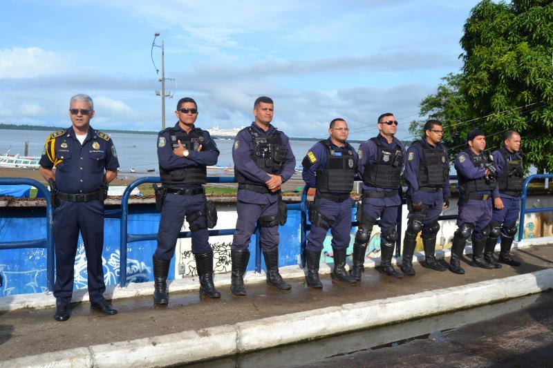 Agentes da Guarda Municipal de Belém reforçaram a segurança no local e levaram  tranquilidade aos turistas