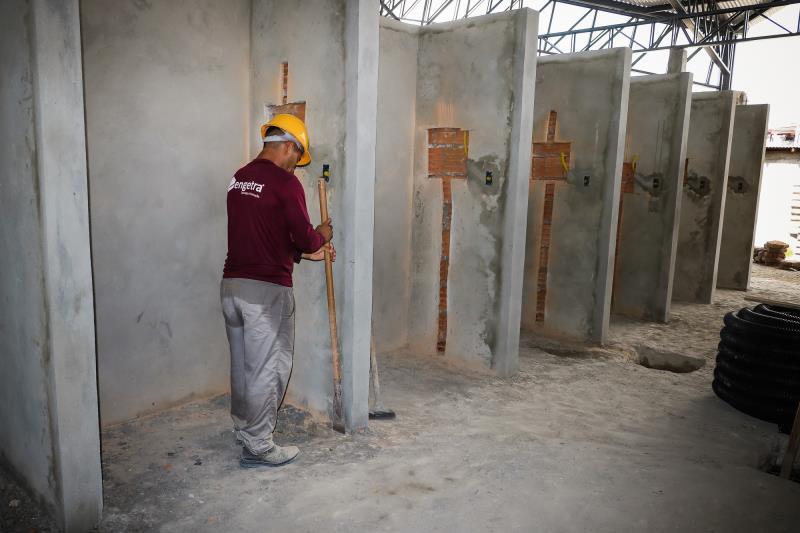 No Porto do Açaí, novos boxes estão sendo construídos
