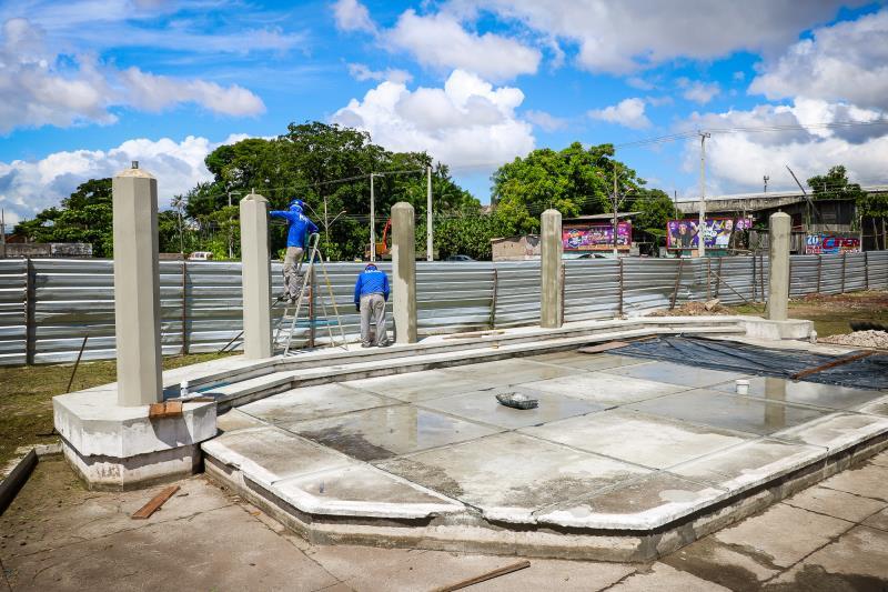 Obras na praça Princesa Isabel vão melhorar a relação com os moradores e facilitar para quem atravessa à ilha do Combu