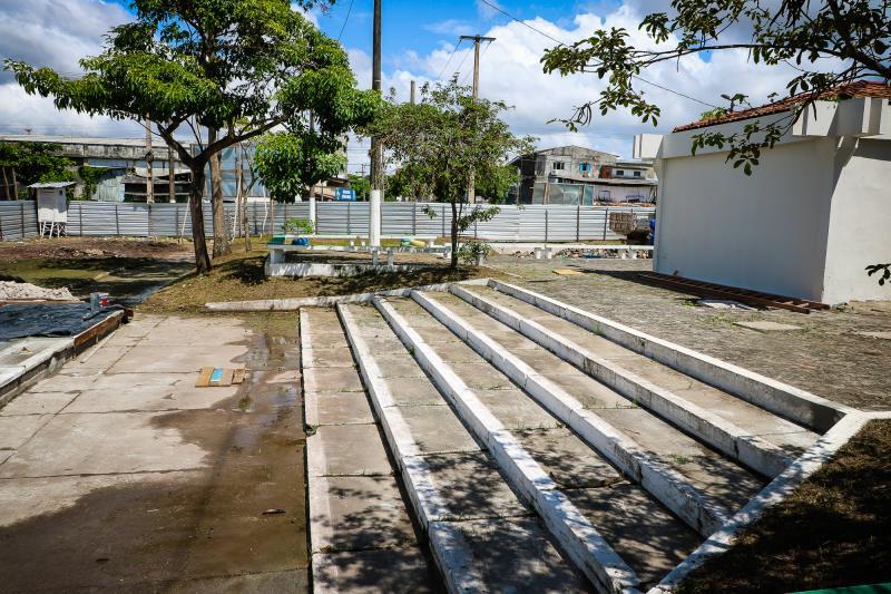 Na praça Princesa Isabel, no bairro da Condor, as obras  vão contemplar toda a área da praça, a área portuária com novo flutuante e cobertura do trapiche