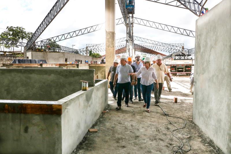 As vistorias de obras continuaram no bairro do Jurunas, de onde Zenaldo seguiu para acompanhar o andamento dos serviços no Complexo do Jurunas