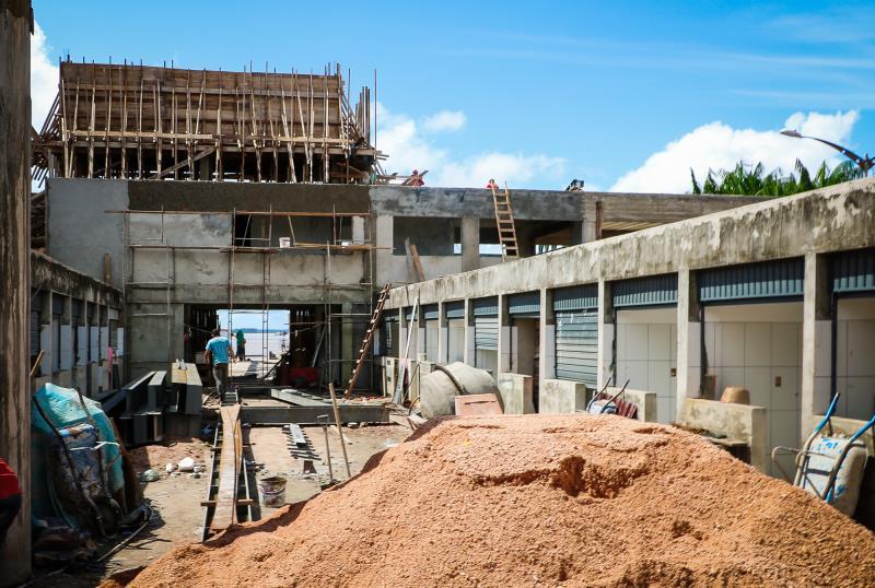 As obras no Porto do Açaí estão tendo um investimento de R$ 4,5 milhões