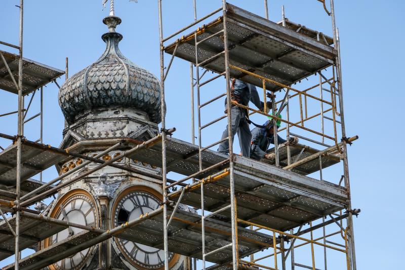 A praça do Relógio, no Ver-o-Peso, está em obras, desde o início deste ano de 2020