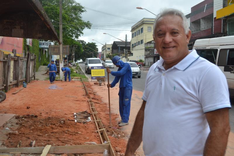 Edson Silva, titular da Agência Distrital de Icoaraci acompanha todo trabalho de perto