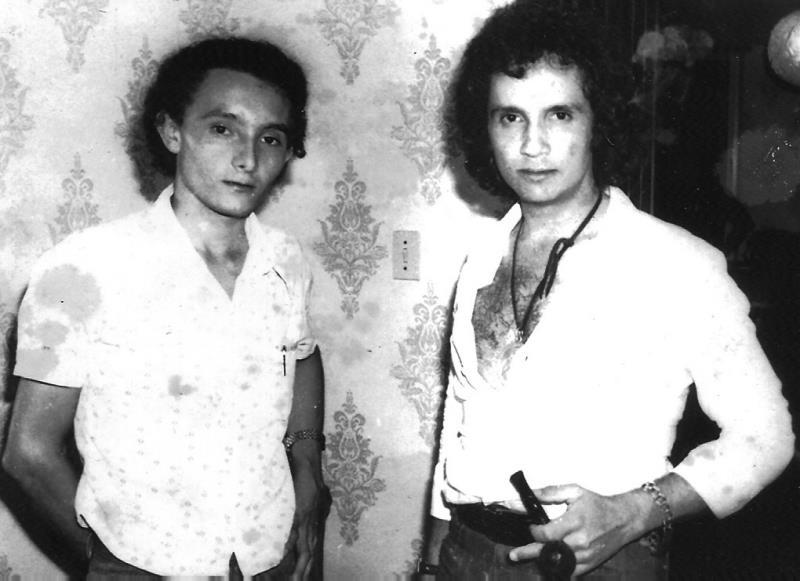 Roberto Carlos e Ray Cunha em Manaus - junho de 1976