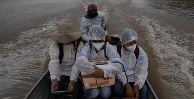 A primeira UC beneficiada pelo mutirão de vacinação foi a RDS do Uatumã