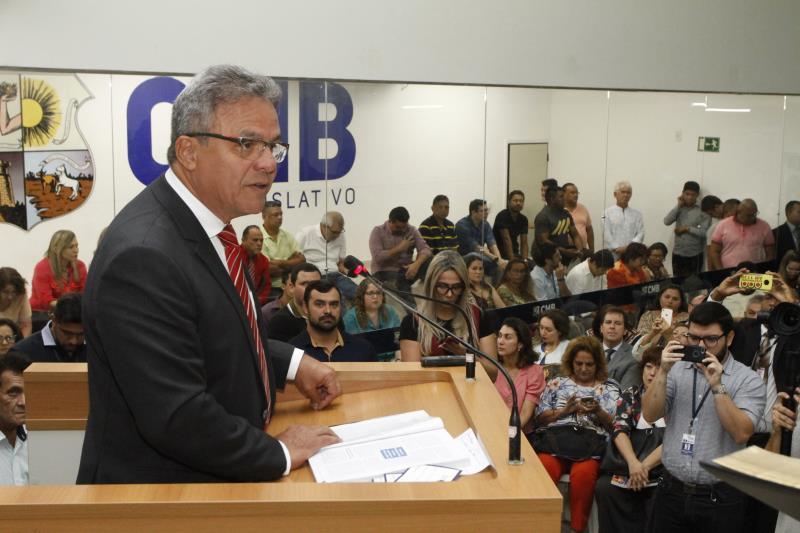 Um dos primeiros temas abordados na mensagem do prefeito foi sobre a mobilidade urbana de Belém, entre eles, o sistema BRT e a Licitação do Transporte Público