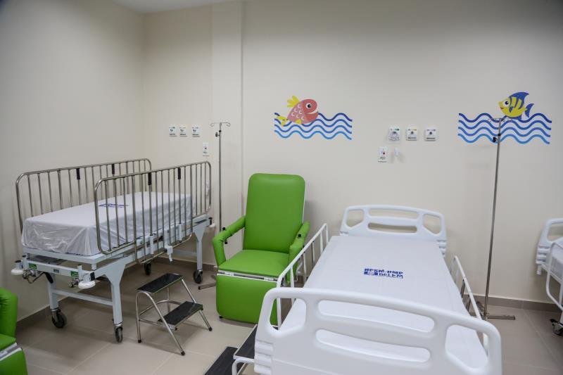 O novo hospital conta com sala de observação de pacientes da pediatria