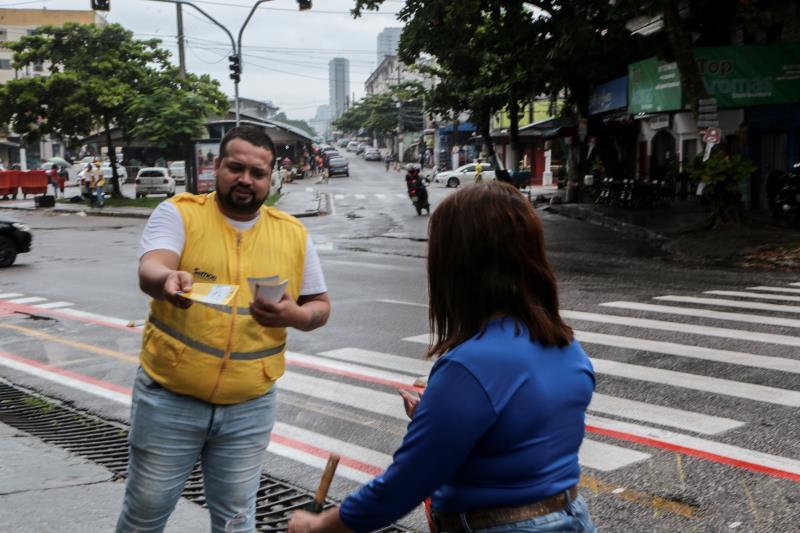 Agentes educadores da SeMOB estarão durante toda a semana nas vias beneficiadas, prestando orientação aos condutores, pedestres e ciclistas