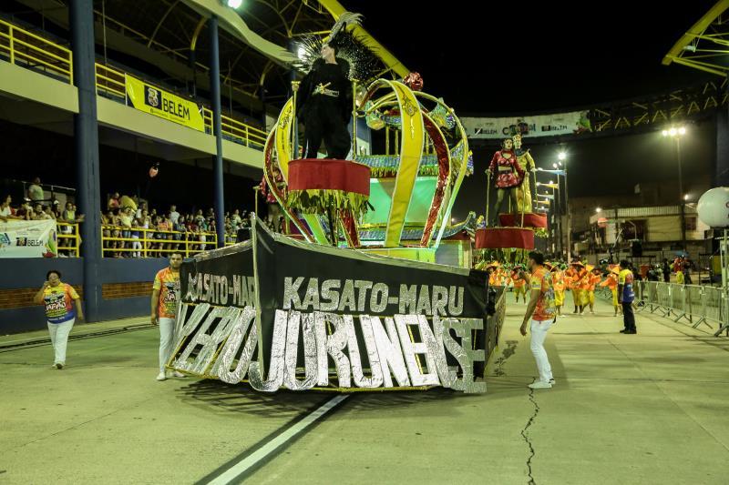 A Associação Carnavalesca Império Jurunense levou o Japão à avenida