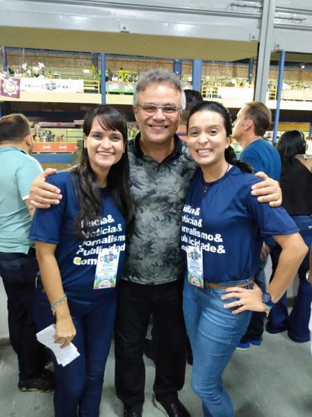 As Pereira Karla e Adriana e o prefeito de Belém, Zenaldo Coutinho