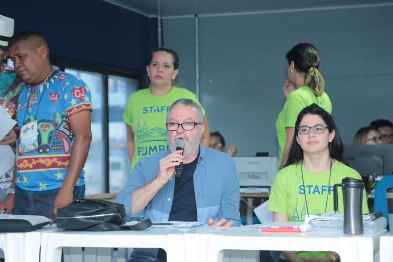 """O presidente da Fumbel, Fábio Atanásio, comandou os trabalhos de apuração. """"O resultado final do desfile foi muito bom, isso aconteceu por conta do intenso processo de diálogo entre a Prefeitura e os carnavalescos"""", disse."""