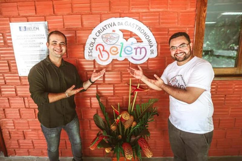 Yan Miranda e Igor Fonseca, juntos com a Prefeitura Belém, inauguraram a Escola de Gastronomia de Outeiro e as obras de revitalização da Escola Bosque