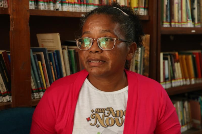 Marta Lima,50, faz parte da coordenação do Espaço Cultura Nossa Biblioteca.