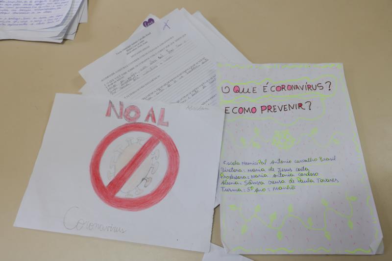 Alunos da rede municipal produziram trabalho de pesquisa sobre a prevenção.