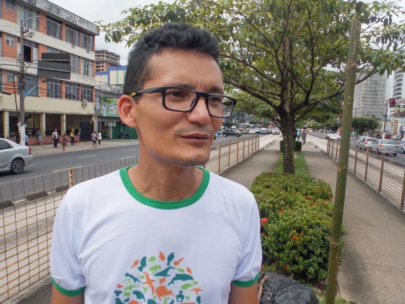 Cleydson Pinheiro, Engenheiro agrônomo da equipe de paisagismo da Semma.