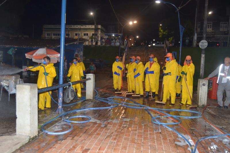 Movimento no Trapiche Municipal de Icoaraci parou para receber limpeza nesta sexta, 3