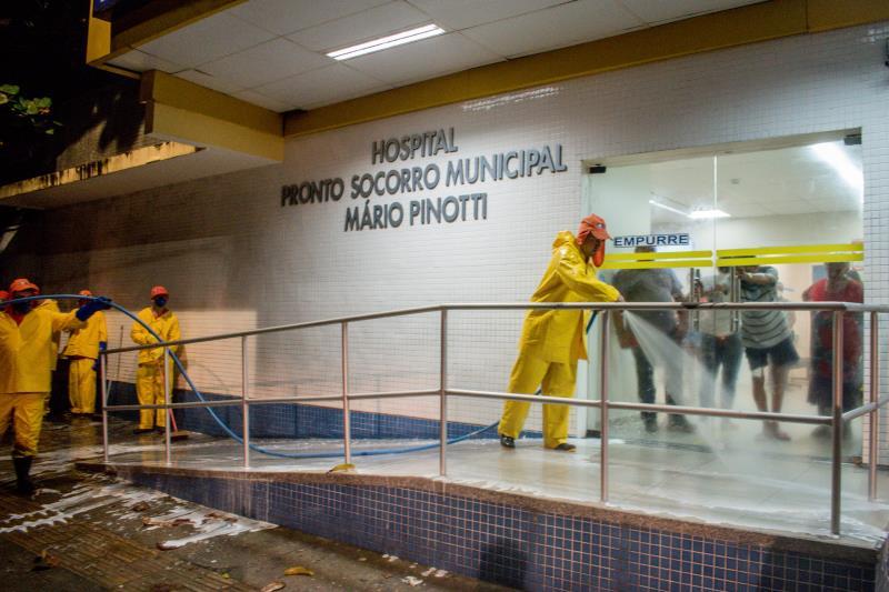 HPSM Mário Pinotti, na travessa 14 de Março, foi desinfetado pela Sesan