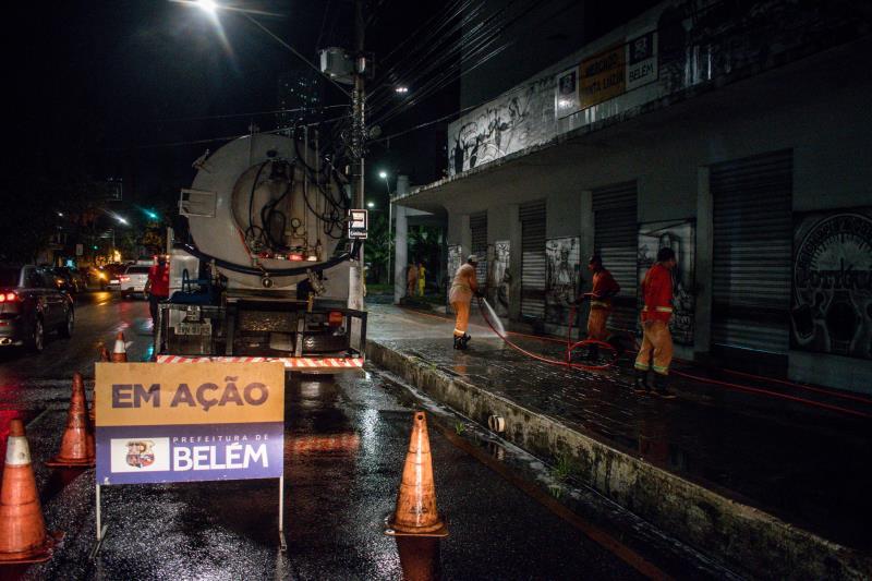 Feira de Santa Luzia, no Umarizal, também foi limpa pelos agentes da Sesan