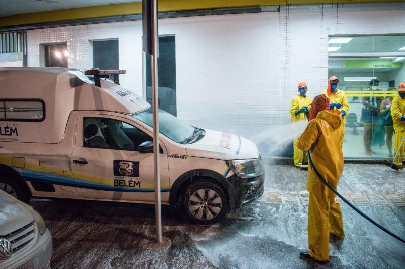 Ambulâncias do HPSM Mário Pinotti também foram higienizadas externamente