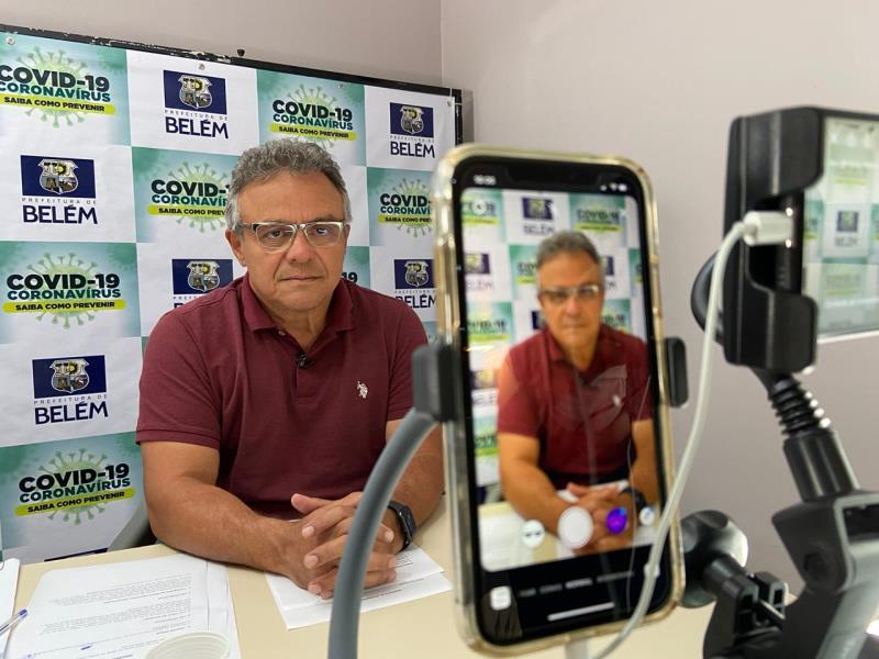 Prefeito de Belém, Zenaldo Coutinho.