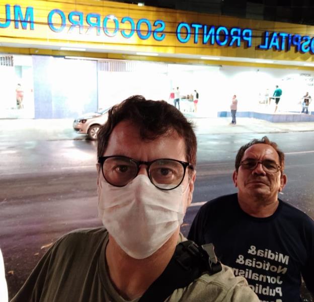 Fernando Sette e o fiel escudeiro e motora da Comus, Luiz Fernando, em pauta no PSM do Umarizal
