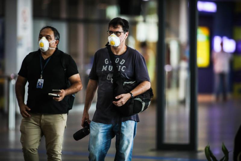 Sérgio Chêne e Fernando Sette na pauta que era no aeroporto de Val-de-Cães