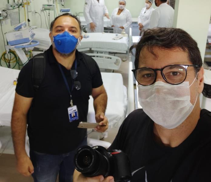 Sérgio Chêne e Fernando Sette, da Comus/Agência Belém, em pauta hospitalar