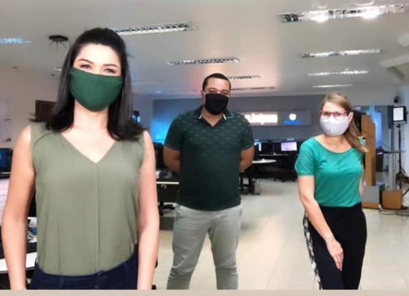 Galera da TV Liberal aderiu às mascaras verdes