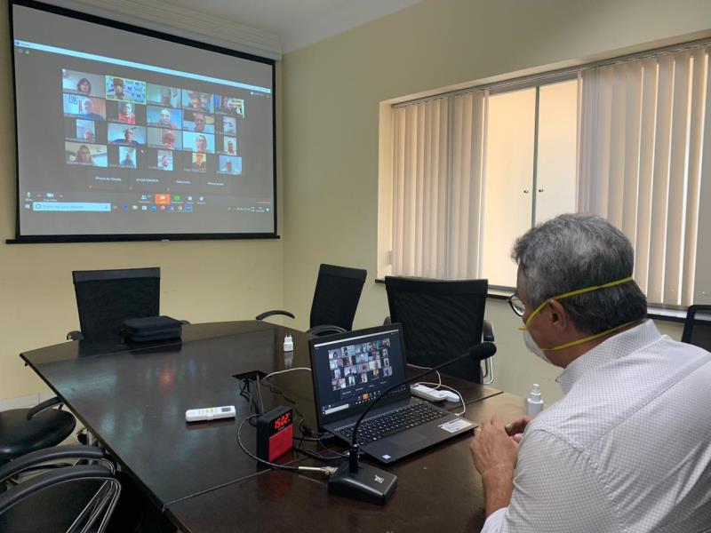 O encontro foi o primeiro do plano de retorno que a Prefeitura de Belém está preparando para ser executado após o fim do decreto do lockdown, marcado para o próximo domingo, 24.