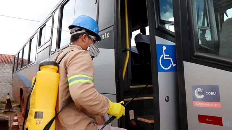 Higienização ônibus