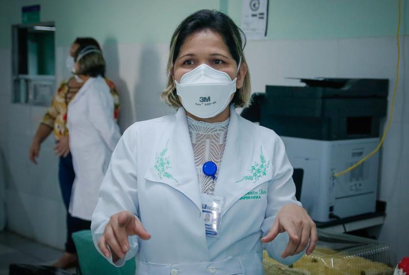 Siane Reis, enfermeira e coordenadora da Enfermagem