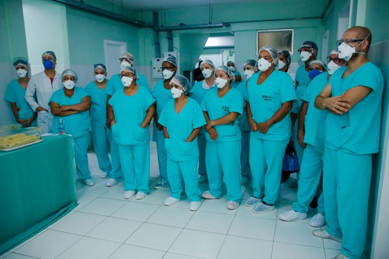 Dos mais de 100 profissionais do Hospital Dom Vicente Zico, 20 acusaram positivo à Covid-19. A maioria já está recuperada.