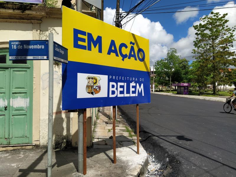 Obas dão nova cara à Rua João Diogo , no trecho entre Av. 16 de Novembro até a igreja São João Batista.