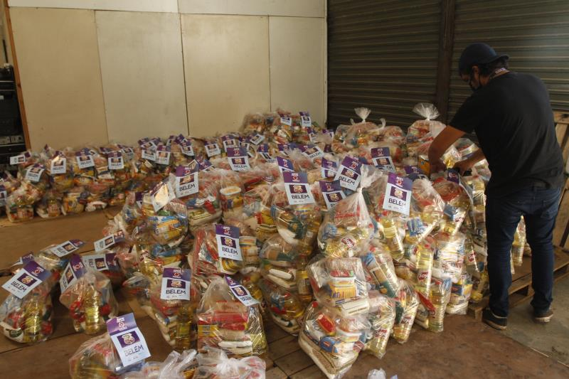 2020.05.26 - PA - Belém - Brasil: Funpapa entrega cestas básicas para a Fazenda Esperança.