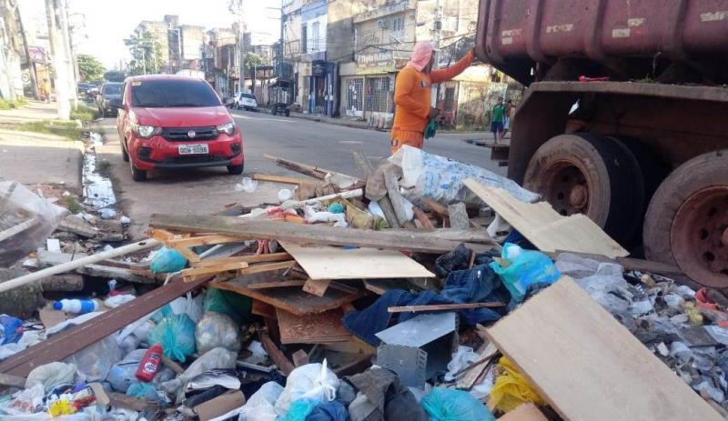 Pontos críticos de descarte irrelugar de lixo no bairro do Jurunas são comuns