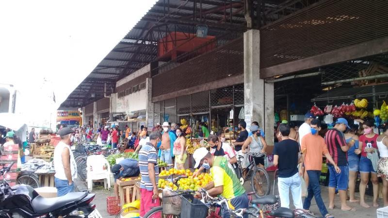 Feiras e mercados serão monitoradas diariamente pela Vigilância Sanitária Municipal. Não serão permitidas aglomerações.